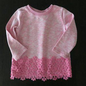 Toddler Girl Pink Sweatshirt Pullover Top Sweater